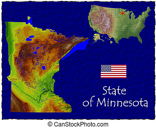 Minnesota, USA hi res aerial - Hi res aerial view of...