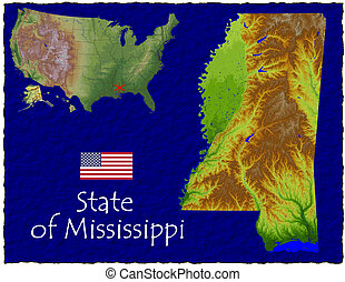 Mississippi, USA hi res aerial - Hi res aerial view of...