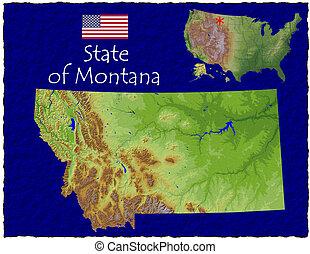 Montana, USA hi res aerial - Hi res aerial view of Montana,...