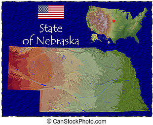 Nebraska, USA hi res aerial - Hi res aerial view of...