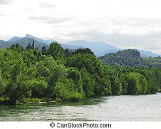 Garonne River Landscape - South of France Comminges, Haute...