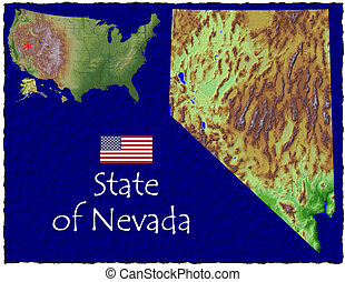 Nevada, USA hi res aerial - Hi res aerial view of Nevada,...