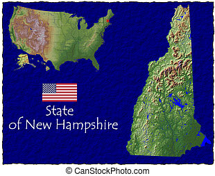 New Hampshire, USA hi res aerial - Hi res aerial view of New...