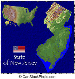 New Jersey, USA hi res aerial - Hi res aerial view of New...