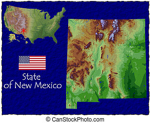 New Mexico, USA hi res aerial - Hi res aerial view of New...