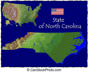 North Carolina, USA hi res aerial - Hi res aerial view of...