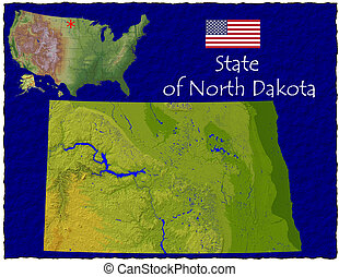 North Dakota, USA hi res aerial - Hi res aerial view of...