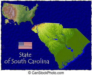South Carolina, USA hi res aerial - Hi res aerial view of...