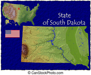 South Dakota, USA hi res aerial - Hi res aerial view of...
