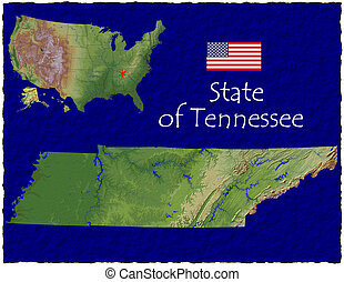 Tennessee state, USA hi res aerial - Hi res aerial view of...