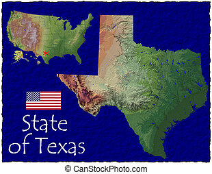 Texas state, USA hi res aerial - Hi res aerial view of Texas...