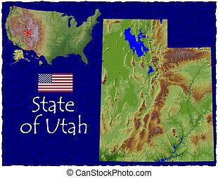 Utah state, USA hi res aerial - Hi res aerial view of Utah...