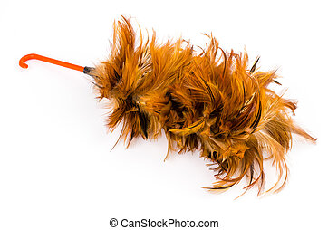 Duster on isolated white background