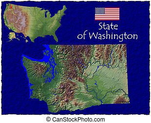 Washington state hi res aerial - Hi res aerial view of...