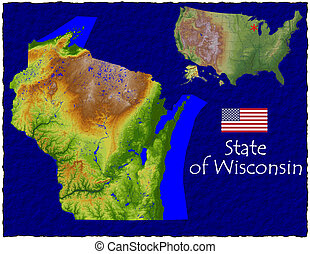 Wisconsin USA state hi res aerial - Hi res aerial view of...