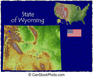 Wyoming USA state hi res aerial - Hi res aerial view of...