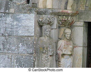 Church Saint Just Sculpture - South of France Comminges,...