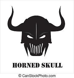 Horned Black skull - Suitable for team identity, sport club...