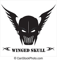 Winged Black Skull - Suitable for team identity, sport club...