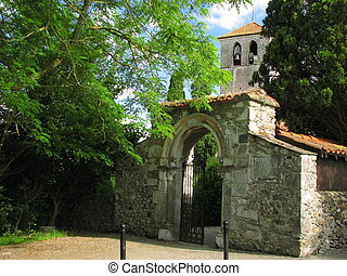 Church Saint Just Door - South of France Comminges, Haute...