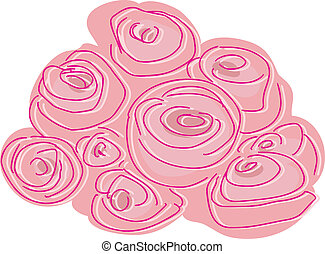 Abstract Rose Bunch