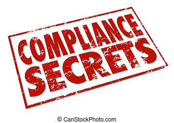 Compliance Secrets Red Stamp Advice Tips Information Help -...