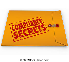 Compliance Secrets Advice Following Rules Yellow Envelope -...