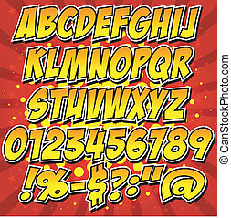 comics style alphabet collection se - Vector illustrator EPS...