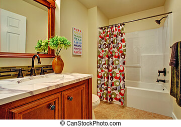 Bathroom interior.