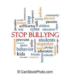 Stop Bullying Word Cloud Concept with great terms such as...