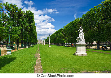 Park around Luxembourg Palace, Paris, France