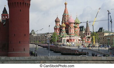 military parade, Moscow, Russia - Rehearsal of military...