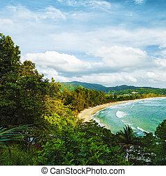 komposition, Phuket, strand, hdr, ö, bearbetat, fyrkant,...