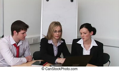 Business people in a meeting 3 - Business people in a...