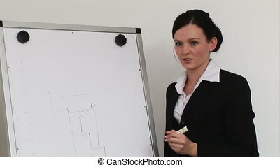Woman giving a Business Presenation - Young adult Business...