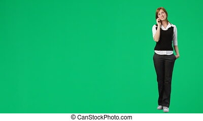 Green Screen Footage of a woman on the phone - HD green...