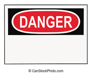 Danger Warning Sign - OSHA danger warning sign with copy...