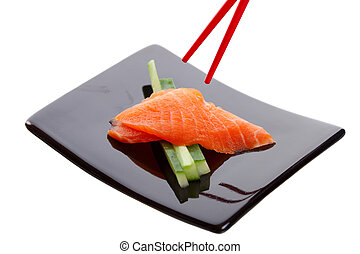 Salmon Sashimi - Japanese sushi dish called Salmon Sashimi....