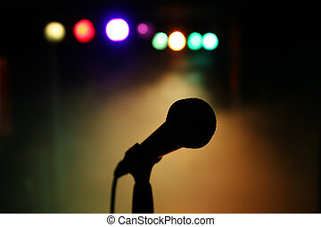 Mic on stage - Microphone on stage