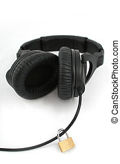 Music protection - Padlock on headphones