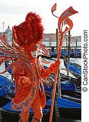 Elegant mask - Beautiful clasical mask in Venice