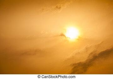 Sunrise in Africa - Beautiful sunrise in West Africa