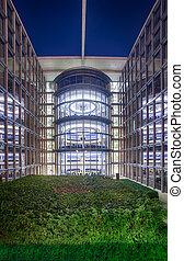 Bundestag Parliament Buildings in Berlin, Germany - Modern...