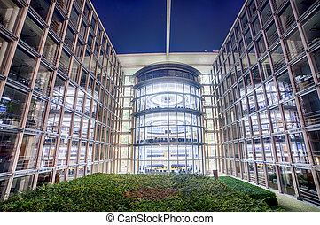 Bundestag Parliament Buildings in Berlin, Germany - Modern...