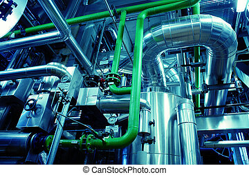 Industrial zone, Steel pipelines and equipment - Industrial...