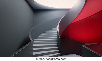 True Path - Spiral stair to a heavenly light