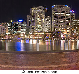 darling harbour - Darling Harbour in Sydney, Australia night...