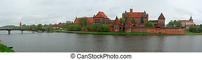 Malbork - Crusader castle Malbork in Poland