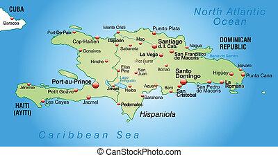 karta, Hispaniola