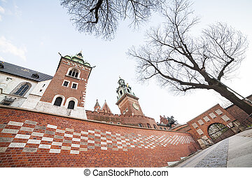 Wawel Castle, Krakow, Poland, Europe - Main gate to royal...